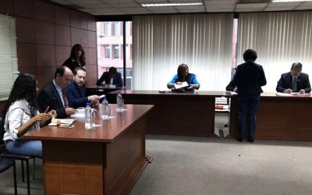 El fiscal Carlos Baca asistió a la audiencia de apelación a la prisión preventiva solicitada por Gustavo M. Foto: Fiscalía