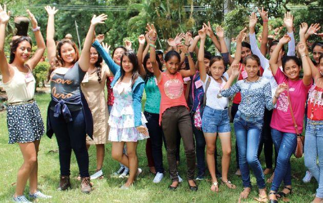 Chicas de las Escuelas de Liderazgo de Plan Internacional en Guayas. Foto: Vistazo