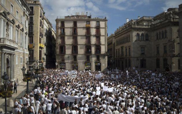 Hay marchas en Madrid y Barcelona. Foto: AFP