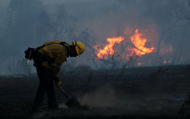 Al menos 1.500 edificios, entre viviendas y comercios, fueron destruidos por las llamas de 17 incendios diferentes que se han extendido por nueve condados del norte del estado. Foto: Reuters
