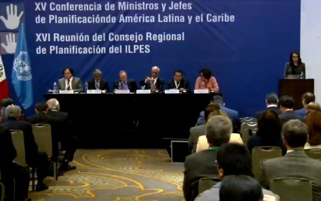 Mideros, durante su participación en el encuentro, analizará el alcance de la planificación como medio de implementación de los Objetivos de Desarrollo Sostenible 2030. Foto: Senplades