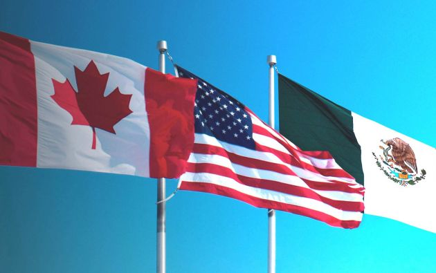 Estados Unidos es el destino de tres cuartas partes de las exportaciones de Canadá, y del 80% de las de México. Foto: archivo