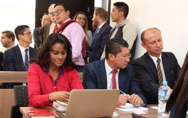 El fiscal general Carlos Baca Mancheno coordinó acciones de protección con el ministerio del Interior. Foto: Fiscalía
