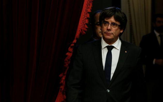"""""""No hay ninguna de estas garantías que justifiquen hoy la convocatoria de elecciones al Parlamento"""", dijo el líder catalán. Foto: Reuters"""