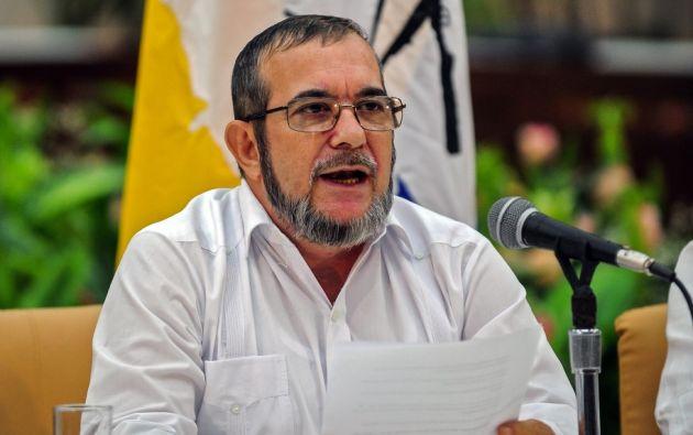 Rodrigo Londoño Echeverri 'Timochenko', estará acompañado de Imelda Daza como vicepresidenta. Foto: archivo