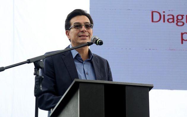 Fander Falconí, anunció la regularización del encargo de autoridades educativas que se encuentran en funciones. Foto: El Ciudadano
