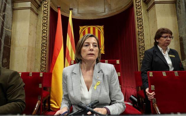 El juez Pablo Llarena da una semana de plazo a Forcadell para que abone la fianza que la ha impuesto. Foto: Reuters