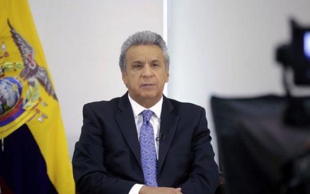 Moreno explicó que exonerará a las sociedades y personas naturales -obligadas a llevar contabilidad- del pago del saldo del anticipo del Impuesto a la Renta. Foto: Presidencia