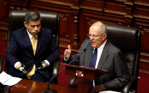 """""""Peruanos. Mañana empieza un nuevo capítulo en nuestra historia: reconciliación y reconstrucción de nuestro país"""", dijo el Mandatario. Foto: Reuters"""
