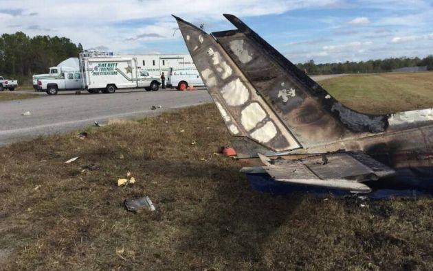 Los investigadores dijeron que el bimotor Cessna 340 se estrelló poco después de despegar de Bartow Airbase, cerca de Tampa. Foto: La Patilla