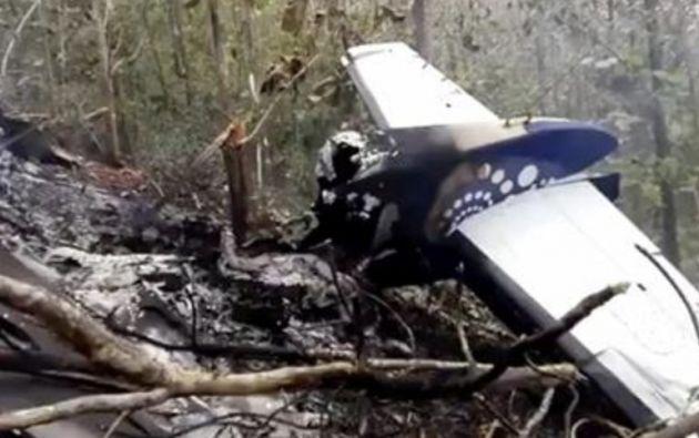 La aeronave siniestrada es propiedad de la empresa Nature Air. Foto: Twitter