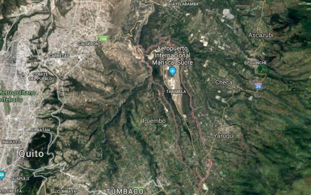 La terminal aérea informó que continúa sus operaciones con normalidad tras el temblor. Foto: Google Earth.
