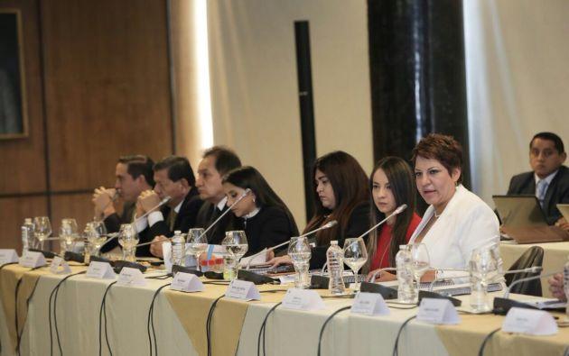 Carrión  aseguró que en la Comisión se está cumpliendo con lo que establece la Constitución de la República. Foto: Asamblea