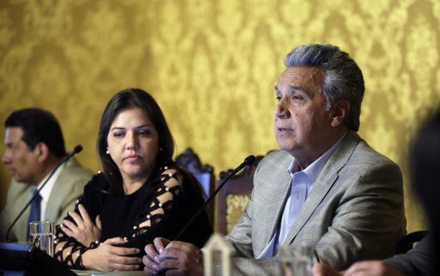 """""""Un país no puede pasar sin un vicepresidente"""", dijo Moreno. Foto: Presidencia"""