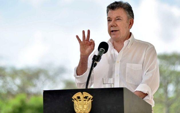 """""""Presidente Maduro no pretenda usar al pueblo colombiano para tapar las enormes falencias de su revolución fracasada"""", replicó Santos. Foto: Reuters"""
