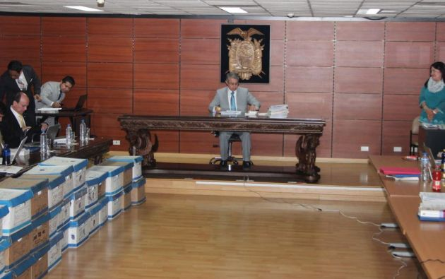 El Fiscal General del Estado, Carlos Baca Mancheno presentará los elementos de convicción para acusar a los investigados. Foto: Fiscalía