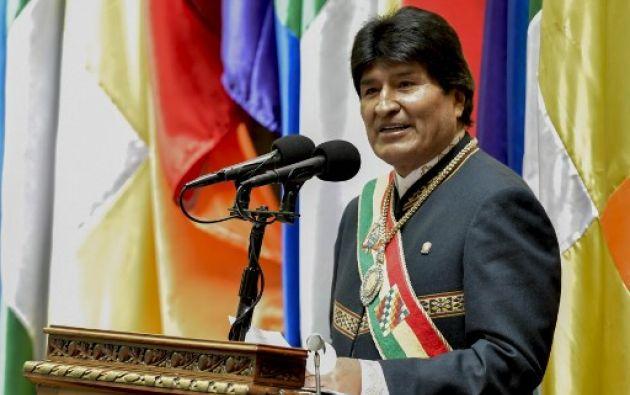 """""""En doce años hemos transformado estructuralmente el país, somos un país con mayor justicia social"""", señaló Morales. Foto: AFP"""