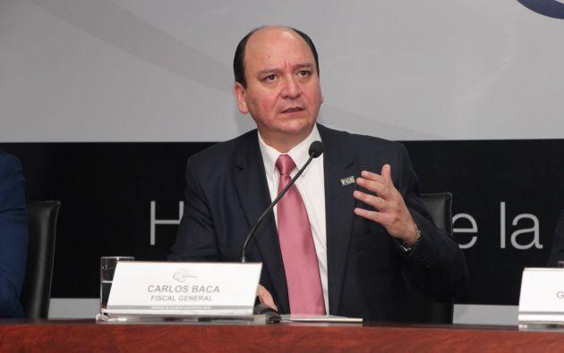 """""""Los documentos que recibe la Fiscalía de la Unidad de Análisis Financiero son reservados"""", dijo Baca. Foto: Fiscalía"""