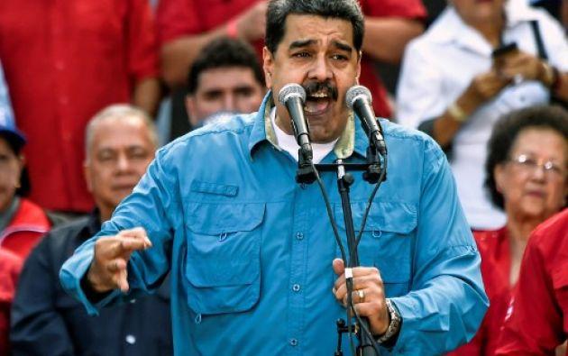 Maduro fue proclamado el mismo viernes candidato del oficialismo para buscar la reelección. Foto: AFP
