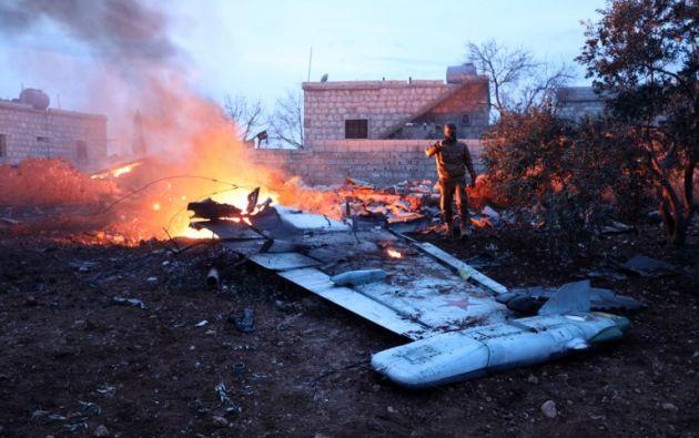 Abatido el piloto del avión ruso derribado por rebeldes sirios. Foto: AFP