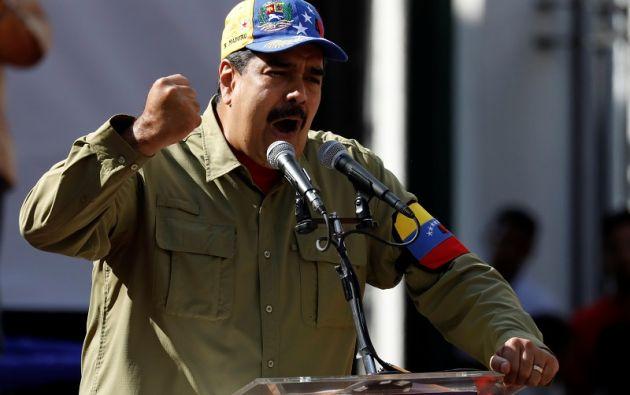 """""""No podemos permitir la destrucción de Venezuela"""", aseveró Maduro. Foto: Reuters"""