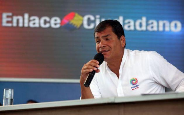 Durante los 10 años del Gobierno del expresidente Correa se realizaron 523 enlaces ciudadanos. Foto: Internet