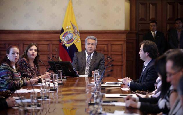 El Mandatario no permitirá que organismos supranacionales atenten contra la constitución ecuatoriana. Foto: Presidencia