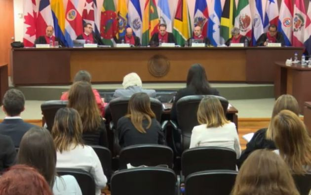 """Con cuatro votos a favor y dos en contra, la Corte desestimó """"por improcedente"""" la solicitud. Foto: Corte IDH"""