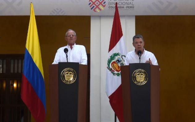 """Santos y Kuczynski han tenido fuertes enfrentamientos con Maduro, a cuyo gobierno califican de """"dictadura"""". Foto: AFP"""
