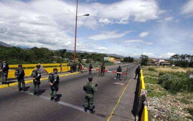 La confrontación fue en el asentamiento Campesino La Cabrera, vía el tráiler, sector La Colina, municipio Ureña. Foto: El Nacional, Venezuela / GDA