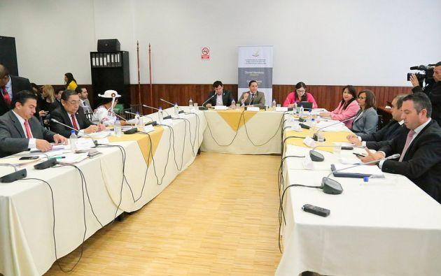 Para el segundo debate, según Mendoza, se realizará una simulación para poder anticipar qué cantidad de ecuatorianos podrían cumplir con el perfil. Foto: Asamblea