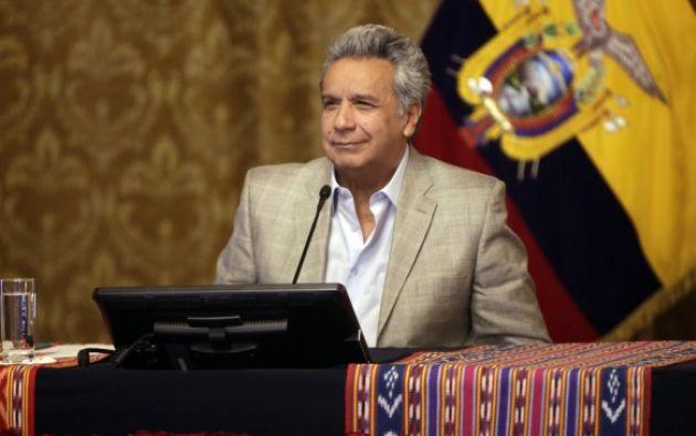 """""""¡Queremos dejar atrás momentos vergonzosos, que atentan contra la dignidad del país entero!"""". dijo Moreno. Foto: Presidencia"""