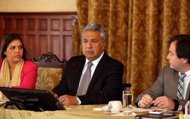 QUITO, Ecuador.- El presidente de la República, Lenín Moreno, asistió al ascenso de su homólogo, Sebastián Piñera. Foto: Presidencia