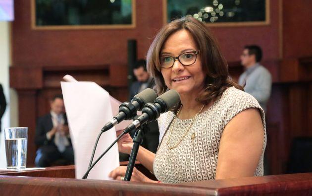 Cabezas estará en el cargo hasta completar el período para el cual fue nombrada, es decir, el 14 de mayo de 2019. Foto: Asamblea