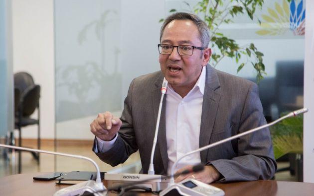 """""""Siendo fiel a los principios de mi bancada, he tomado una decisión personal"""", manifestó Espinosa. Foto: Asamblea"""