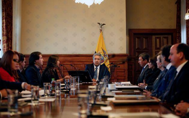 """""""Nuestra respuesta será contundente"""", afirmó Moreno. Foto: Presidencia"""