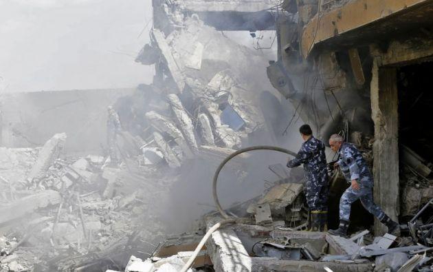 Estados Unidos atacó con misiles contra posiciones sirias. Foto: AFP