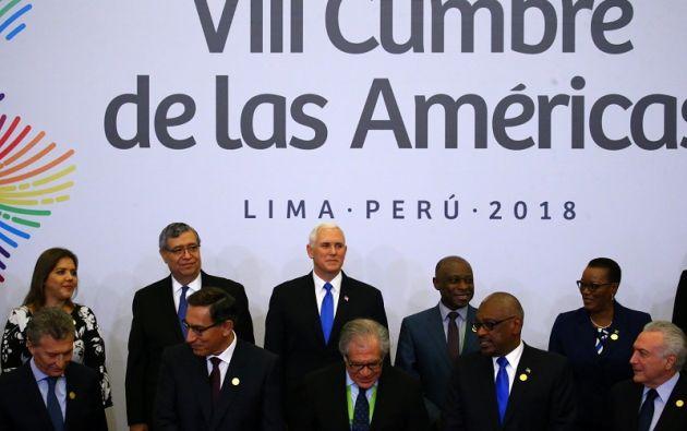 La sesión plenaria de la VIII Cumbre de las Américas comenzó con la participación de los 18 mandatarios. Foto: Reuters