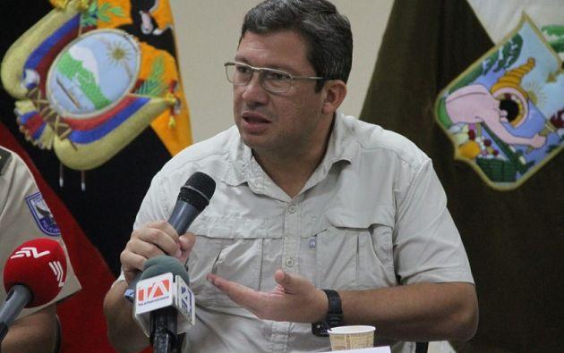 """Navas pidió corresponsabilidad a Colombia en las investigaciones """"ya que los secuestrados se encuentran en su territorio"""". Foto: Min. Interior"""