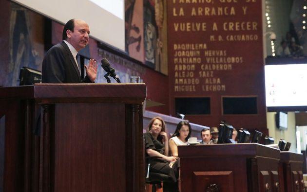 En caso de no presentarse al término del debate una moción de censura y destitución, se archivará la solicitud. Foto: archivo Asamblea