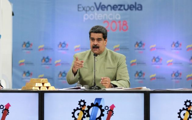 """""""Se trata del 'petro oro', aquí está, físicamente aquí la tenemos, esta sí va a tener existencia física"""", dijo Maduro. Foto: Reuters"""