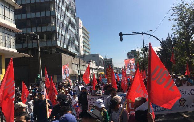 Movilizaciones en las principales ciudades de Ecuador pidieron hoy, con motivo del Día Internacional del Trabajo, la protección de los derechos de los trabajadores. Foto: Redes
