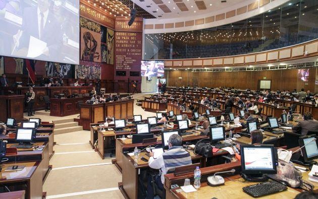 La disposición consta en el proyecto de Ley Orgánica de Lucha contra la Corrupción, que la Asamblea trata en primer debate. Foto: Asamblea