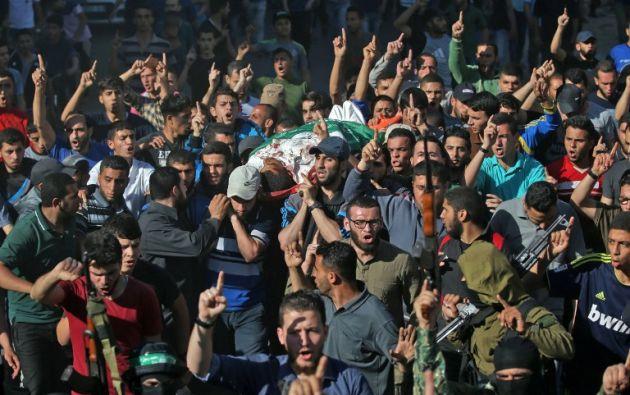 Según el Ejército israelí, más de 35.000 personas participaron en las protestas. Foto: AFP