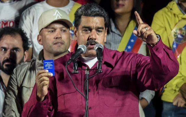 """El gobierno de Maduro acusó a la Casa Blanca de recrudecer un """"criminal bloqueo financiero y económico"""". Foto: AFP"""