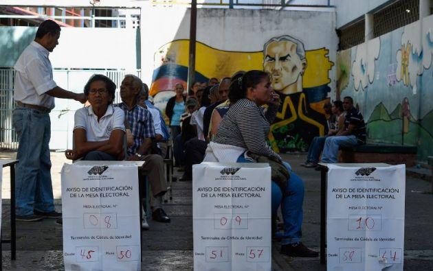 """El Gobierno reconoce """"la actitud pacífica del pueblo venezolano en las elecciones del domingo pasado"""". Foto: AFP"""