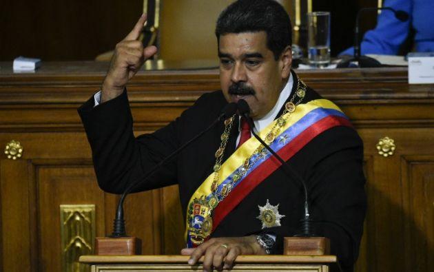"""Maduro ofreció la liberación de opositores presos para """"superar las heridas que dejaron las guarimbas (protestas violentas), las conspiraciones"""". Foto: AFP"""