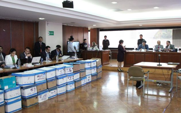 El Fiscal General del Estado, Paúl Pérez Reina, presentará las pruebas testimoniales, periciales y documentales. Foto: Fiscalía