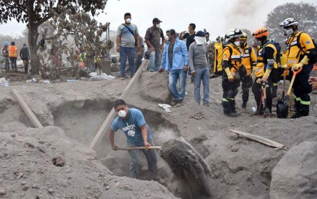 La erupción afecta a 5.489 familias por la pérdida de cosechas. Foto: AFP