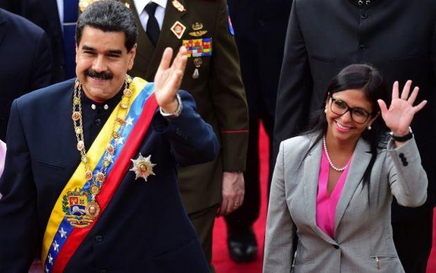 Abogada de 49 años, Rodríguez ha ascendido en posiciones de gran confianza dentro del gobierno de Maduro. Foto: AFP